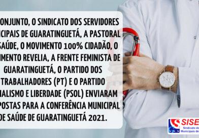 SISEMUG, em conjunto de movimentos da cidade, enviam propostas para a conferência municipal de saúde de Guaratinguetá